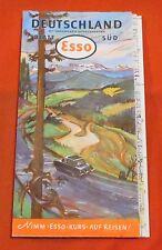 Landkarte , Esso Deutschland Blatt Süd mit Alpenpanorama , 1959 , 82 cm x 62 cm