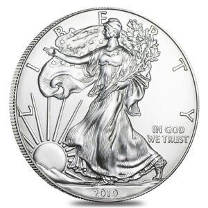2019 1 oz Silver American Eagle $1 Coin BU