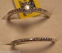 Clearance Diamond Wedding Set (2 Rings) Size 7 7 Diamonds .10tcw Msrp$399.00
