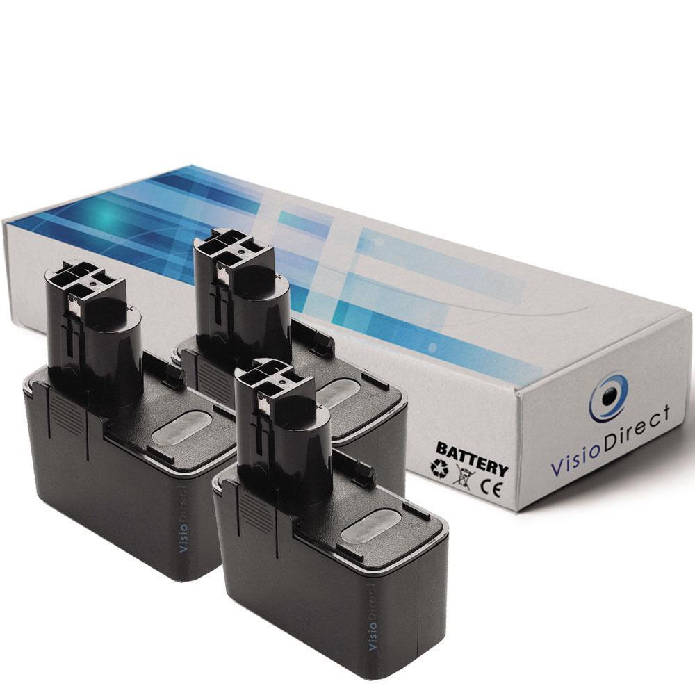 Lot de X3 batteries type 2607335108 12V 3000mAh pour BOSCH - Société Française