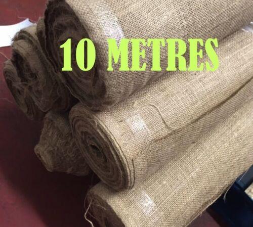 """137 cm 54/"""" large De hesse 100/% jute 10 oz tissu matériau 10 mètres"""