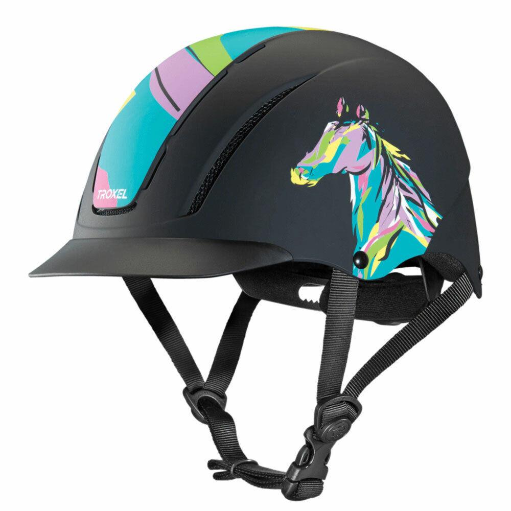 04537 Troxel Spirit Riding Helmet Pop Art Pony Design NEW