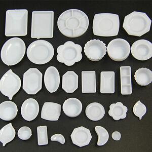 33-Pcs-Dollhouse-Miniature-Tableware-Plastic-Plate-Dishes-Set-Mini-Food-E-PN