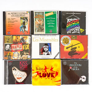 Lot of 9 Theatrical Musical CDs Original Casts Broadway London
