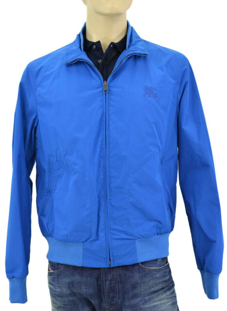 1917c6a72 $665 BURBERRY Brit Sky Blue BRADFORD Mens Bomber Jacket NEW COLLECTION
