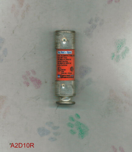 SHAWMUT AMP-TRAP A2D10R SMART SPOT FUSE  A2D 10R 250 VOLT 10 AMP