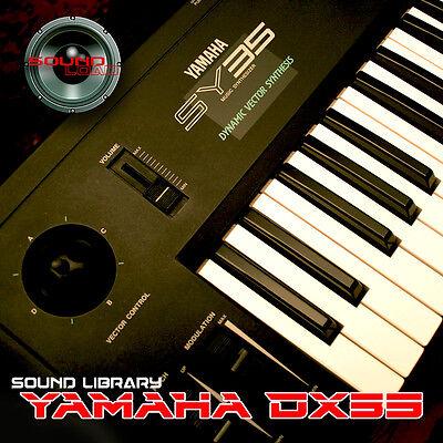 YAMAHA SY-55 Huge Sound Library & Editors on CD Keyboard ...
