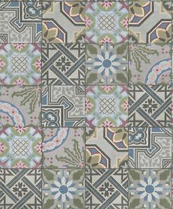 Das Bild Wird Geladen Fliesen Muster Vlies Tapete Crispy Paper Rasch 526301