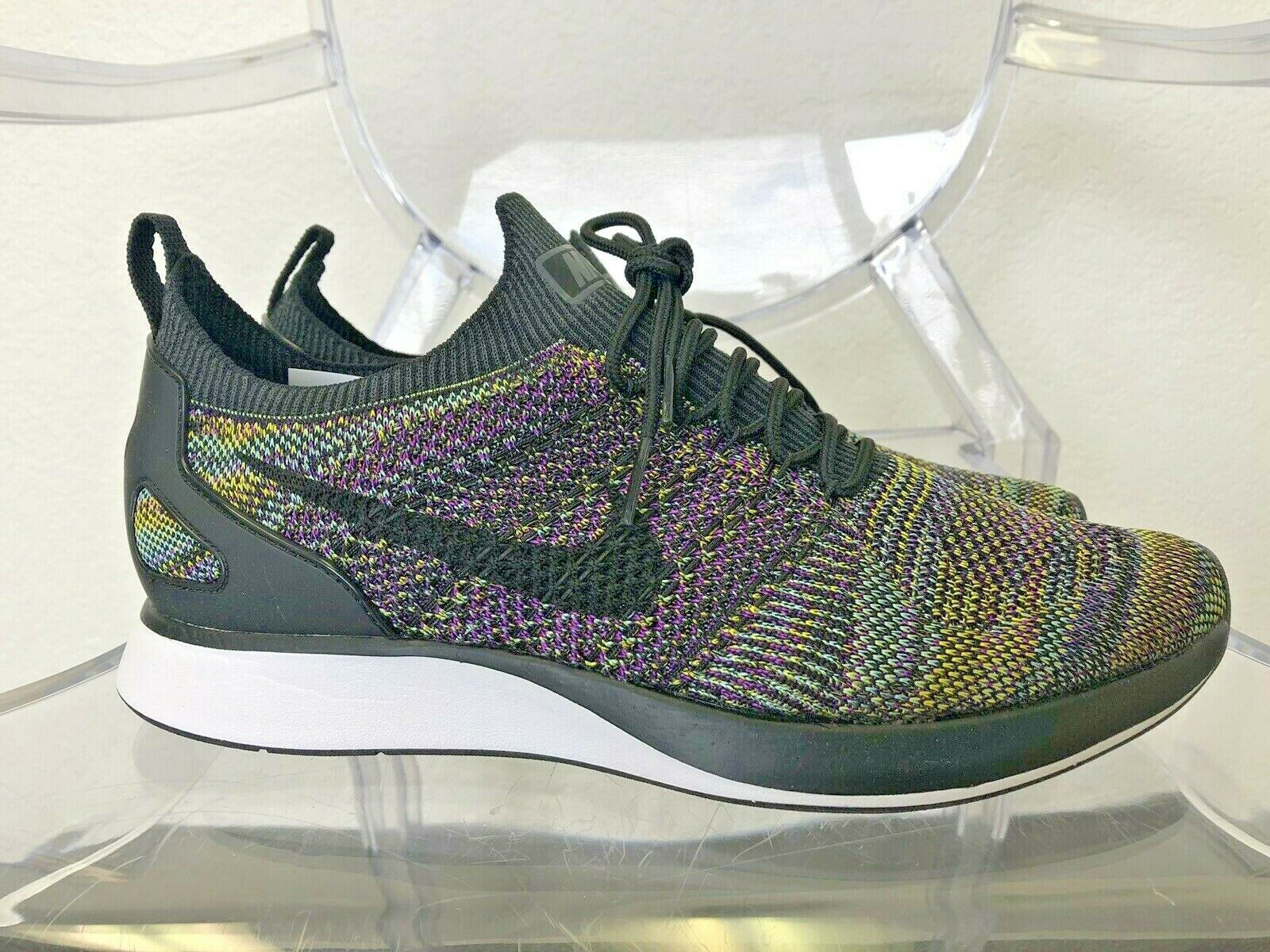 NIKE MEN AIR ZOOM MARIAH FLYKNIT RACER 918264 006 SZ 10 Black Black-Vivid Purple