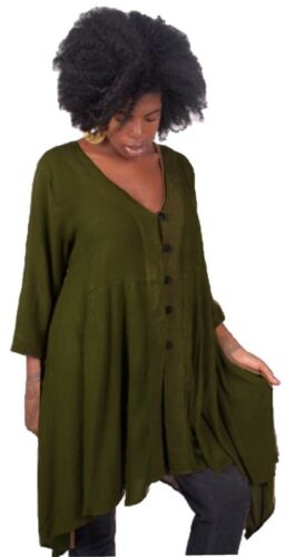 Plus Sizes J253 LotusTraders Womens Top Blouse Button Down Classic Design