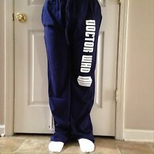 NWT Men's BBC Doctor Who Tardis Police Box Blue Pajama Lounge Pants Size Large L