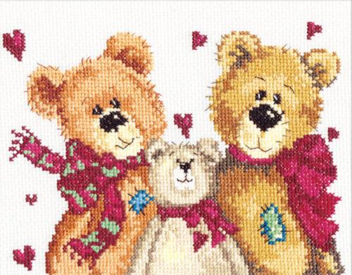 17-06 Kit punto de cruz tres osos Art