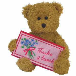 TY Beanie Baby - THANKS A BUNCH the Bear (Greetings Collection) (5 inch) - MWMTs