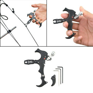 Archery-Release-Aids-3-or-4-Finger-Grip-Thumb-Caliper-Trigger-Compound-Automatic