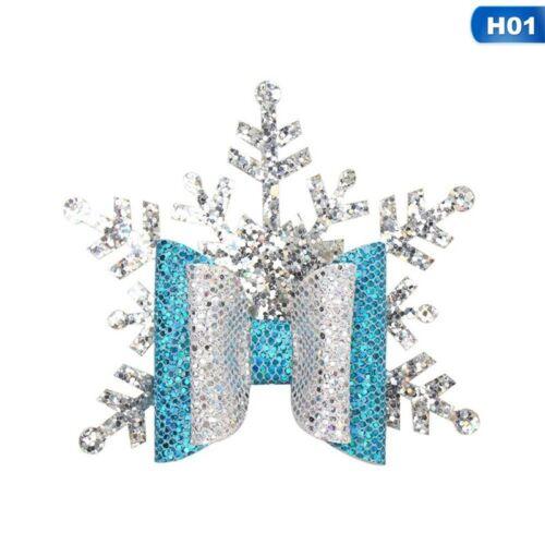 Christmas Glitter Hair Bow Hair Clips Hairpin Barrette for Baby Girls Kids WwKzJ
