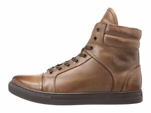 9a63f78a1447 Kenneth Cole Double Header Brown Men s High Top Sneaker KMF7LE036