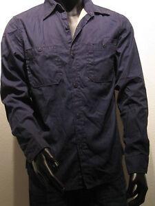 REPLAY-Camisa-de-trabajo-forrado-talla-M-azul-EE-UU-Los-Angeles-NUEVO-um200
