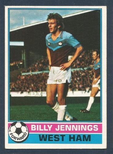 TOPPS 1977 FOOTBALLERS #176-WEST HAM UNITED-WATFORD-BILLY JENNINGS