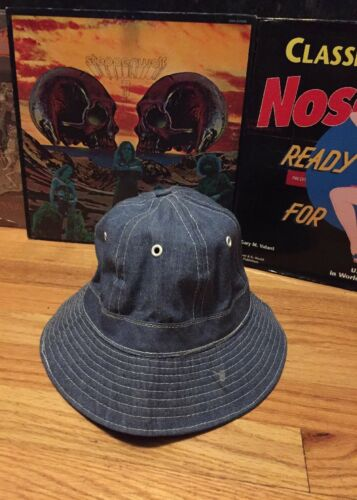Vintage  Daisy Mae Denim Cap Light Blue Bucket Boo