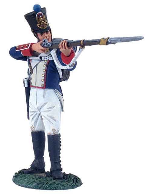 W Britain Set 36042, Napoleonic 105th French Line Inf. Fusilier Standing Firing