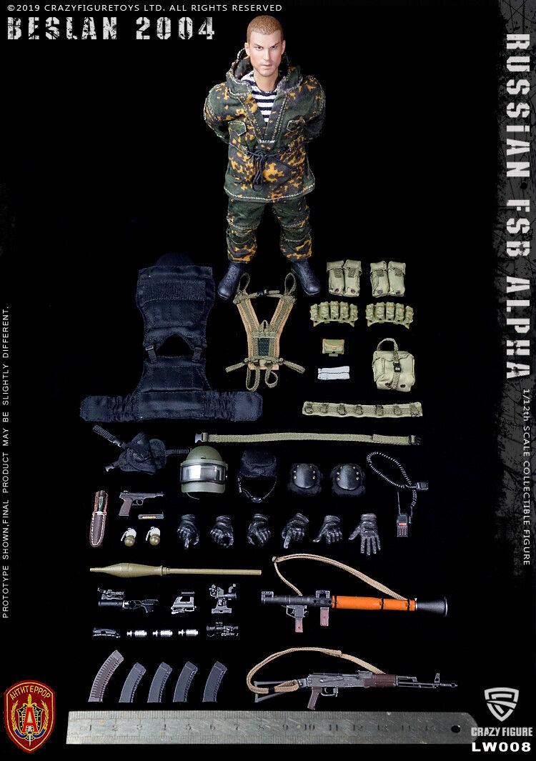 Crazy Figure 1 12 LW008 Russian Alpha speziell Forces Grenadier 6'' Soldier Spielzeug