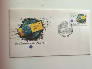 First-day-cover-Australia-1983-World-communications-year-Mannum-5238