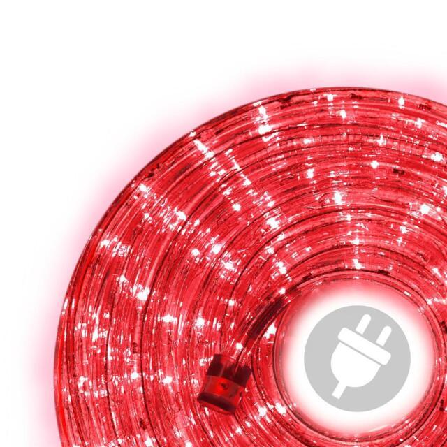 10m LED Lichterschlauch rot Lichterkette Partybeleuchtung Weihnachtsbeleuchtung