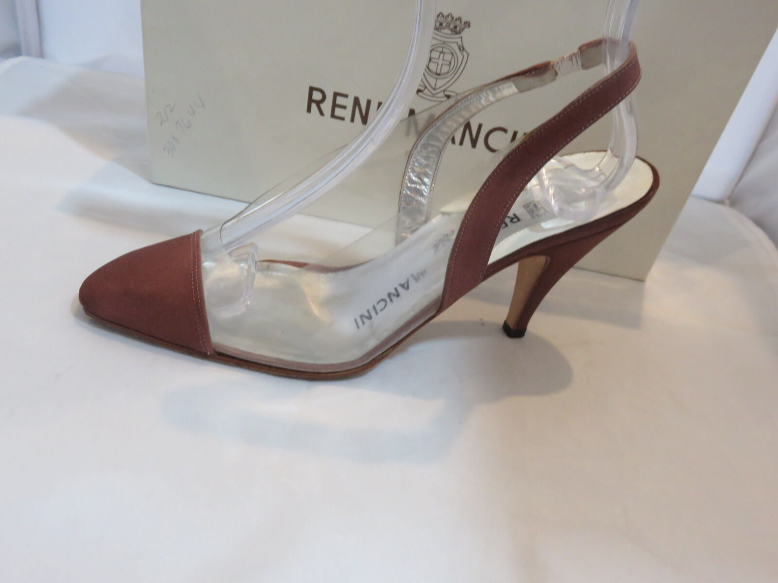 Rene Mancini Clear Rust  Slingbacks High (3in and Up) Size 36.5