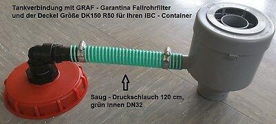 GG21_150*TANKVERBINDUNG GARANTIA FÜLLAUTOMAT MIT SCHLAUCH u. KAPPE DK150R50;IBC