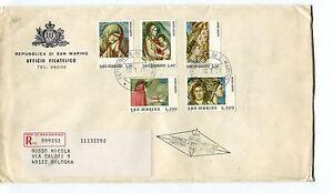 1975 Fdc San Marino Anno Santo Giotto Padova Affr. Raccomandata First Day Cover
