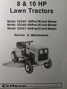 [DIAGRAM_4PO]  Gilson 8 10 hp Lawn Tractor & Mower Service Manual 52047 52045 Montgomery  Ward | 1984 Montgomery Wards Mower Wiring Diagram |  | eBay
