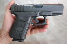 Rubber Textured Hand Gun Pistol Grip Tape PUNISHER fits Gen 3 Glock 19 23 25 32