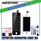 VITRE ECRAN TACTILE LCD IPHONE 4 4S SUR CHASSIS GRILLE NOIR BLANC outil au choi