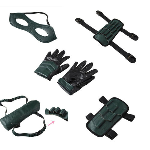 Green Arrow Season 5 Cosplay Oliver Queen Accessories Strap Quiver Gloves Props