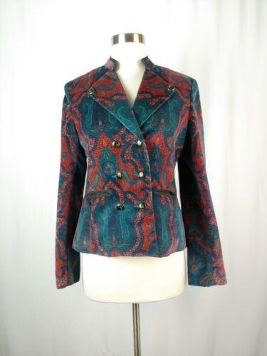 Robert Graham Women's 6 Red Print Velvet Blazer  - image 1