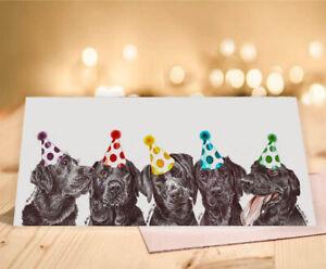 Single Luxury Long Labrador Birthday Card Gift//Present Greeting Dog