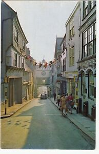 Postcard-HIGH-STREET-AND-NICHOLAS-BALLS-HOUSE-TOTNES-Ref-C9