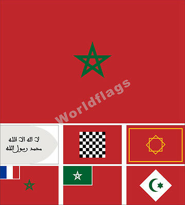3x5 Morocco Kingdom North African Country Flag 3/'x5/' Banner Grommets Green Star