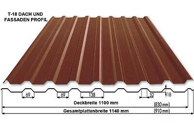 HeißEr Verkauf 50-70% Rabatt Trapezprofile T-18 0,4 Mm Realistisch Trapezbleche