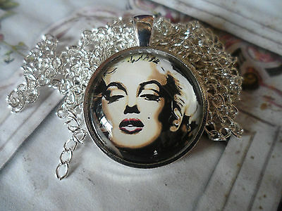 25mm Marilyn Monroe Pendant Necklace,8 designs to choose Cabochon Jewellery