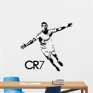 Cristiano ronaldo wall decal cr7 sport gym football vinyl sticker image is loading cristiano ronaldo wall decal cr7 sport gym football voltagebd Choice Image