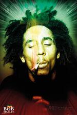 Bob Marley Smoking Portrait Poster Print, 24x36