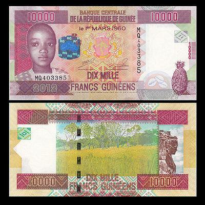 GUINEA 10,000 10000 FRANCS 2012 P 46 UNC