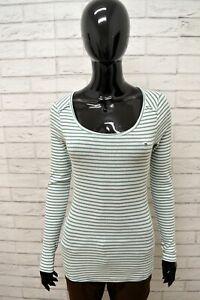 Maglia-Donna-TOMMY-HILFIGER-Taglia-Size-S-Maglietta-Shirt-Woman-Cotone-a-Righe