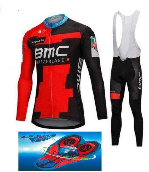 Divisa invernale  2018 GEL BMC cycling SET winter thermal 9D GEL 2018 PAD ba3dec