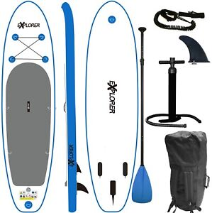 SUP-Board-EXPLORER-Stand-Up-Paddle-Surfboard-aufblasbar-Paddel-ISUP-ALF2-305-cm