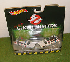 MATTEL HOT WHEELS 1:64th SCALE CLASSIC GHOSTBUSTERS ECTO-1 & ECTO-1A TWIN PACK