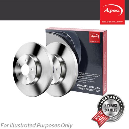 Fits Ssangyong Rexton 2.7 XDI 4x4 Genuine Apec Rear Solid Brake Discs Set