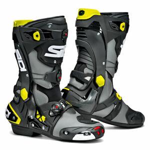 Sidi-Rex-CE-Moto-Motorcycle-Bike-Boots-Grey-Black-Yellow