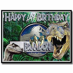 Jurassic World Dinosaur Edible Icing Image Cake Topper Birthday